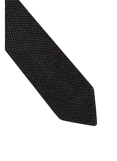 Hemington Hemington Erkek Mikro Desen Örgü Kravat Siyah
